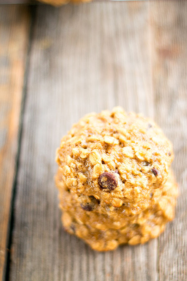 Healthy Peanut Butter Banana Oatmeal Cookies  healthier peanut butter banana oatmeal cookies Well Floured