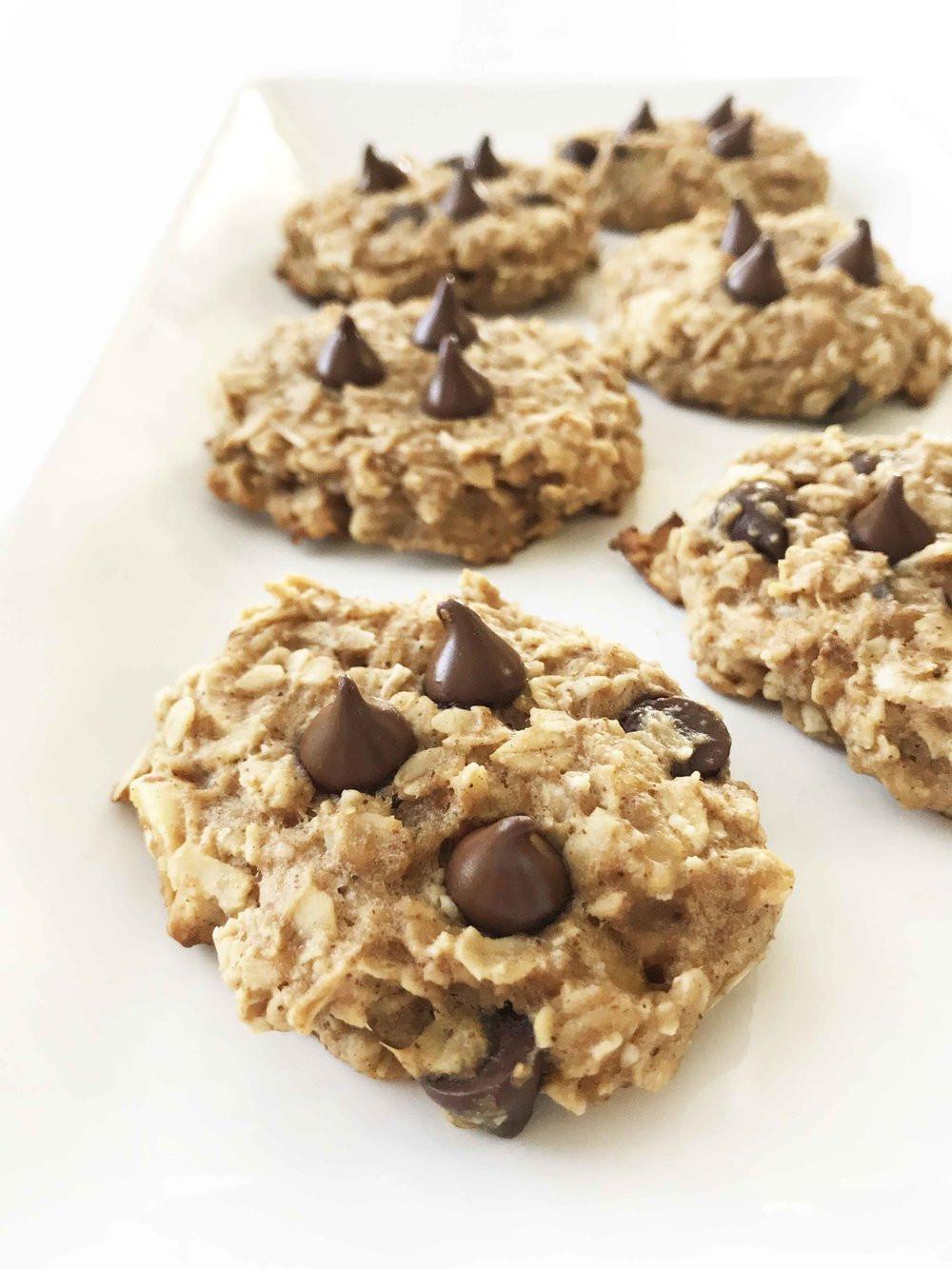 Healthy Peanut Butter Banana Oatmeal Cookies  Healthy Peanut Butter Oatmeal Cookies — The Skinny Fork