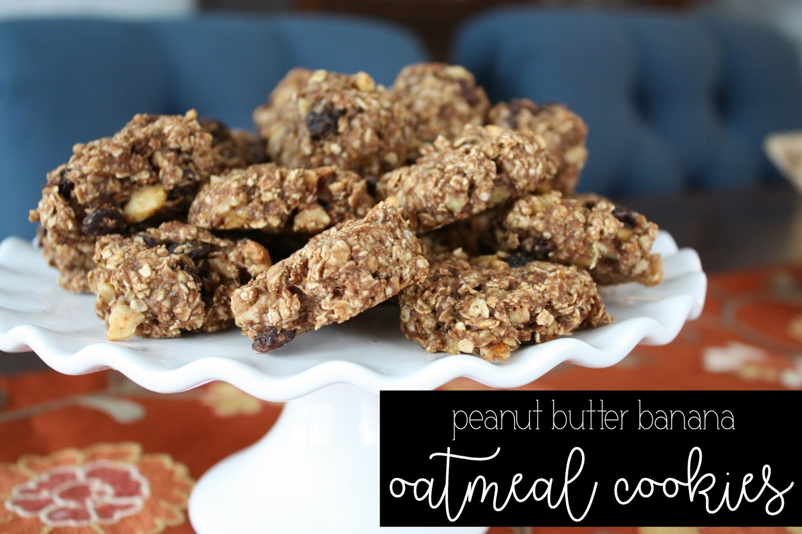 Healthy Peanut Butter Banana Oatmeal Cookies  Healthy Peanut Butter Banana Oatmeal Cookies