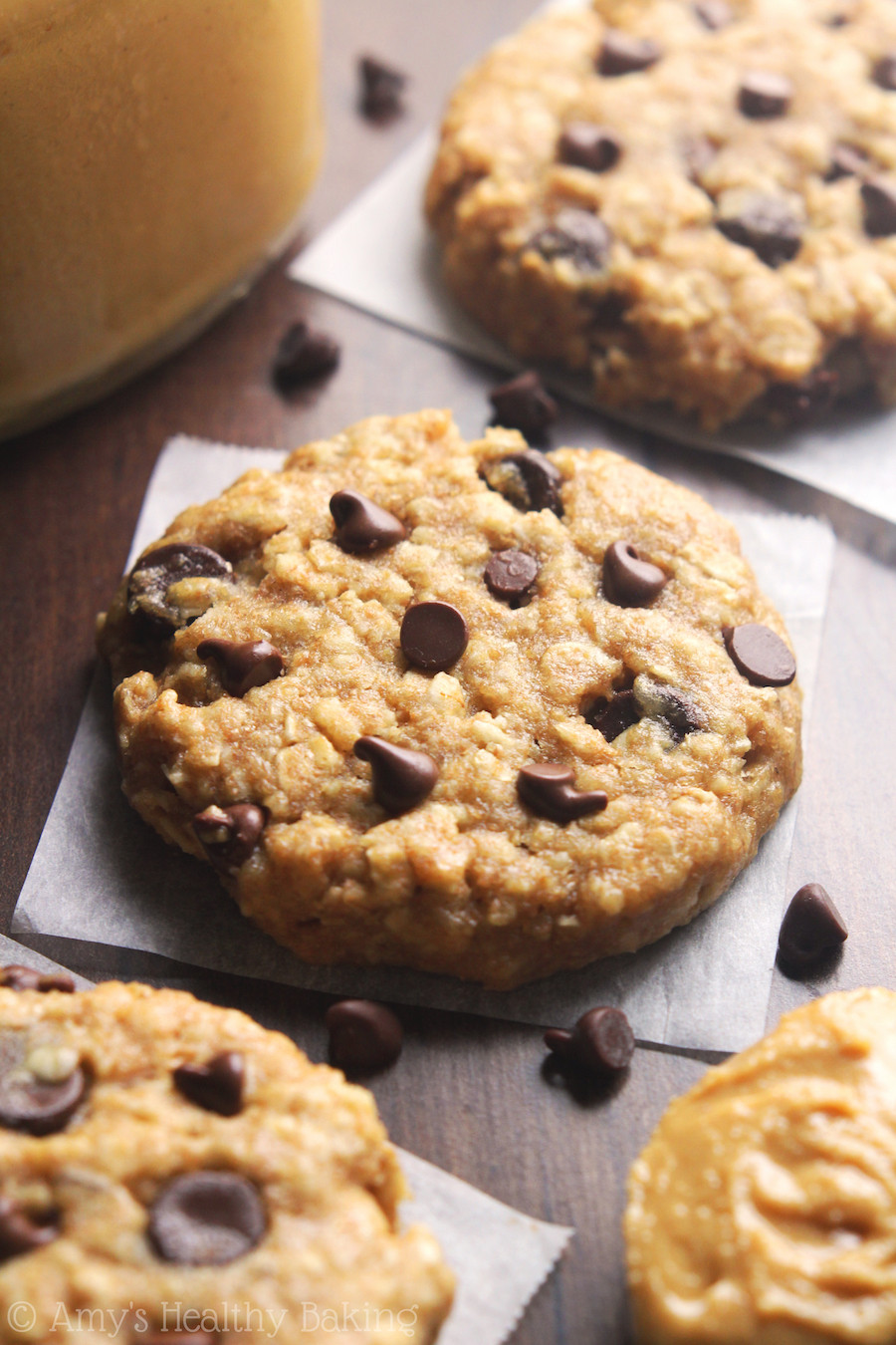 Healthy Peanut Butter Chocolate Chip Cookies  Chocolate Chip Peanut Butter Oatmeal Cookies Recipe Video