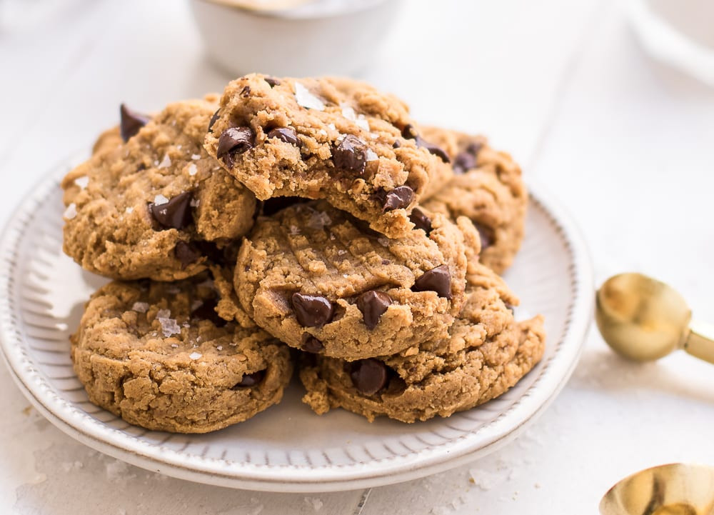Healthy Peanut Butter Chocolate Chip Cookies  Healthy Soft and Chewy Peanut Butter Chocolate Chip