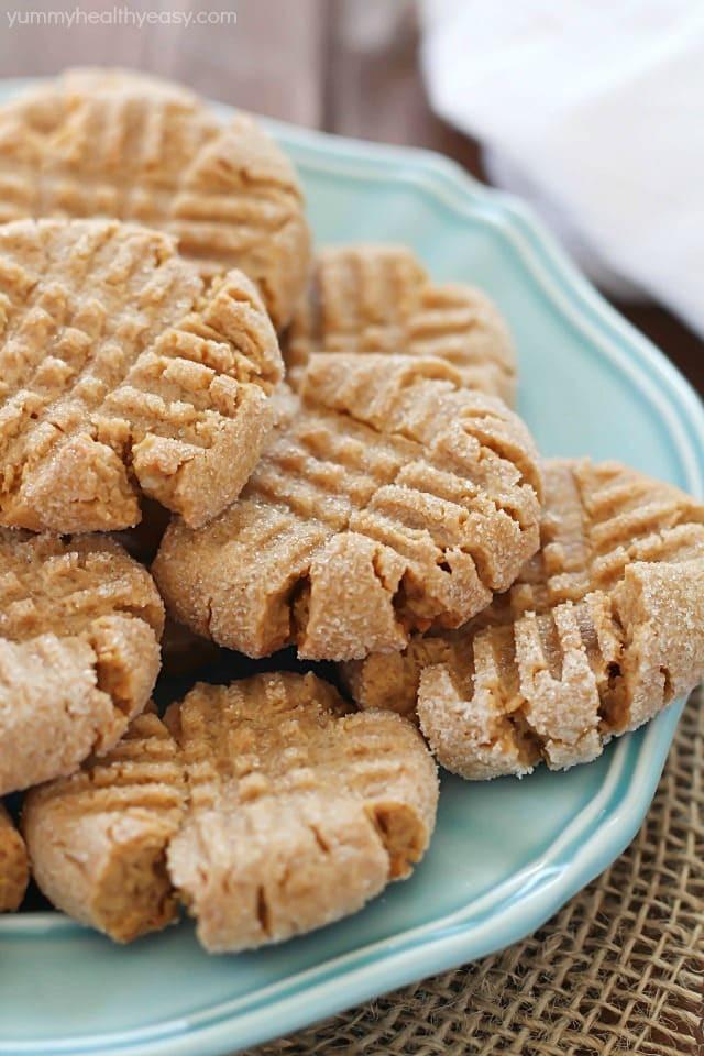 Healthy Peanut Butter Cookies 35 Calories  Healthier Easy Peanut Butter Cookies Yummy Healthy Easy