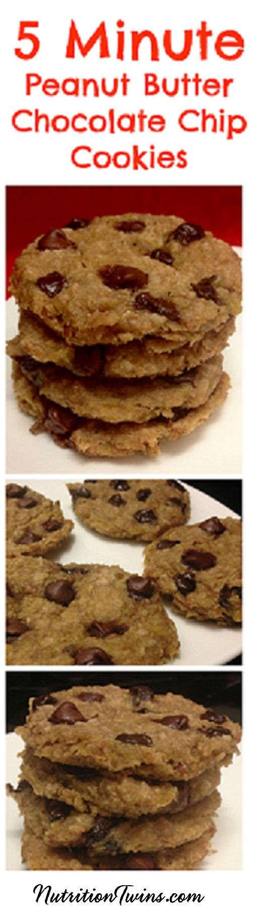 Healthy Peanut Butter Cookies 35 Calories  Microwave Peanut Butter Chocolate Chip Cookies