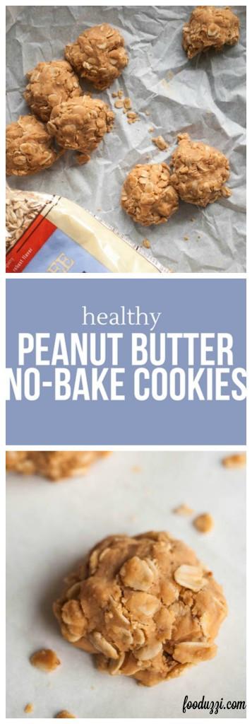 Healthy Peanut Butter Cookies No Sugar  Healthy Peanut Butter No Bake Cookies Fooduzzi