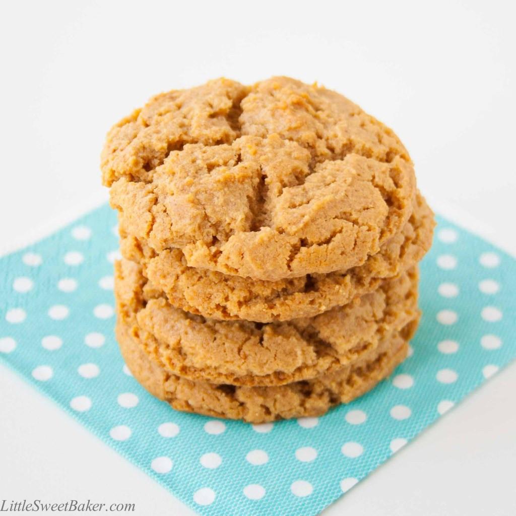 Healthy Peanut Butter Cookies No Sugar  Healthy Peanut Butter Cookies Little Sweet Baker