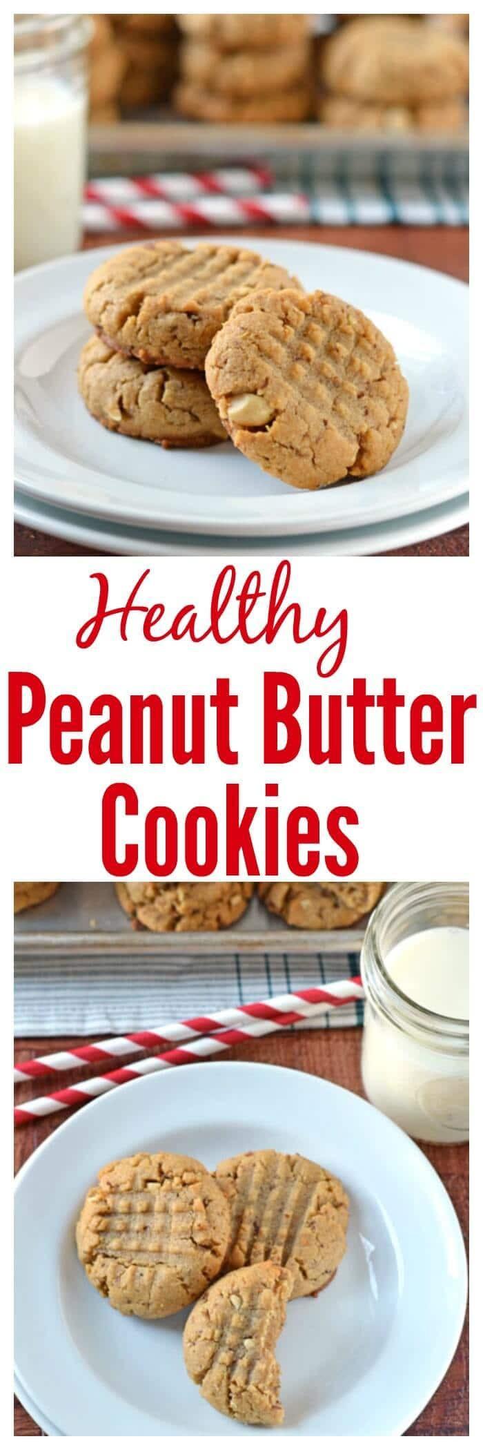 Healthy Peanut Butter Cookies No Sugar  Healthy Peanut Butter Cookies