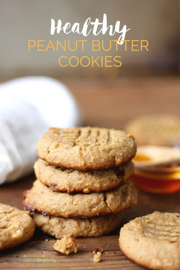 Healthy Peanut Butter Cookies No Sugar  Gluten Free Peanut Butter Cookies