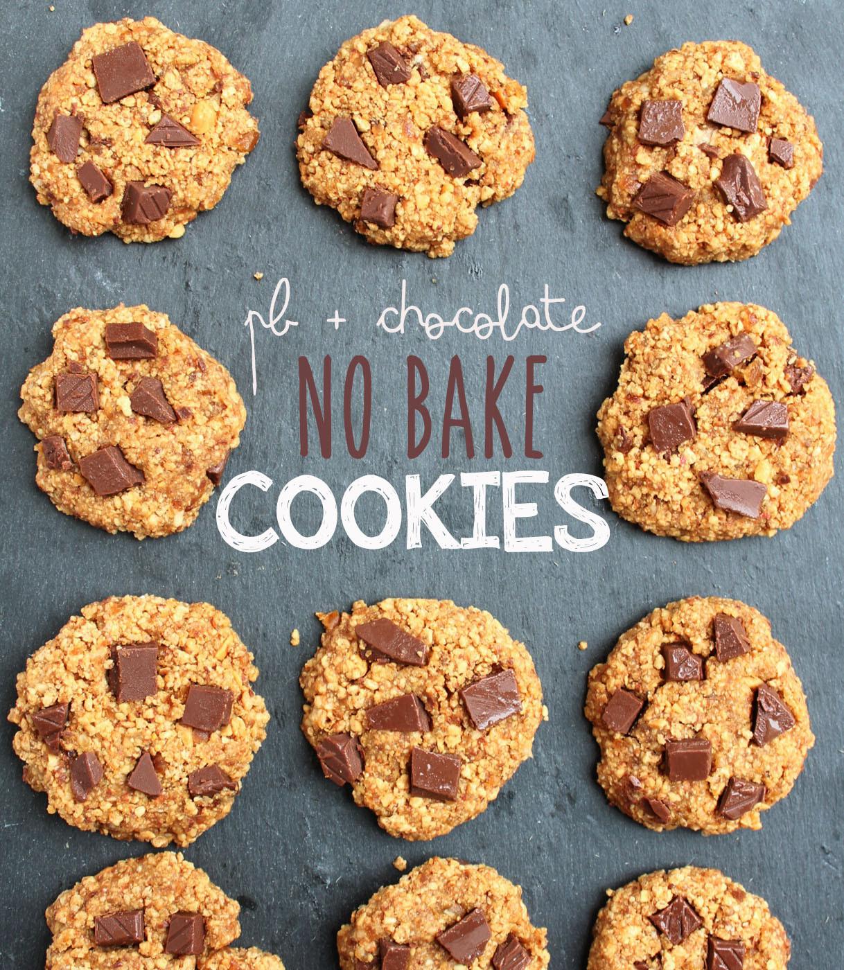 Healthy Peanut Butter No Bake Cookies  No Bake Healthy Peanut Butter Chocolate Cookies