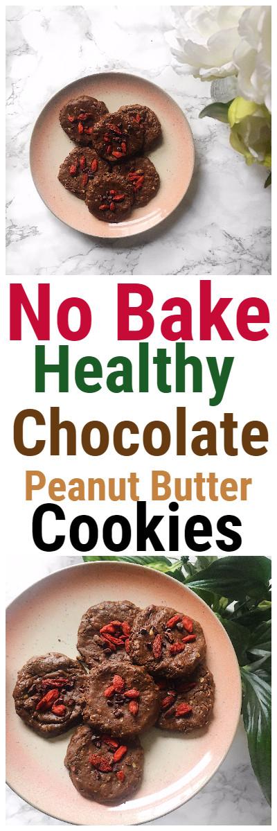 Healthy Peanut Butter No Bake Cookies  No Bake Healthy Chocolate Peanut Butter Cookies