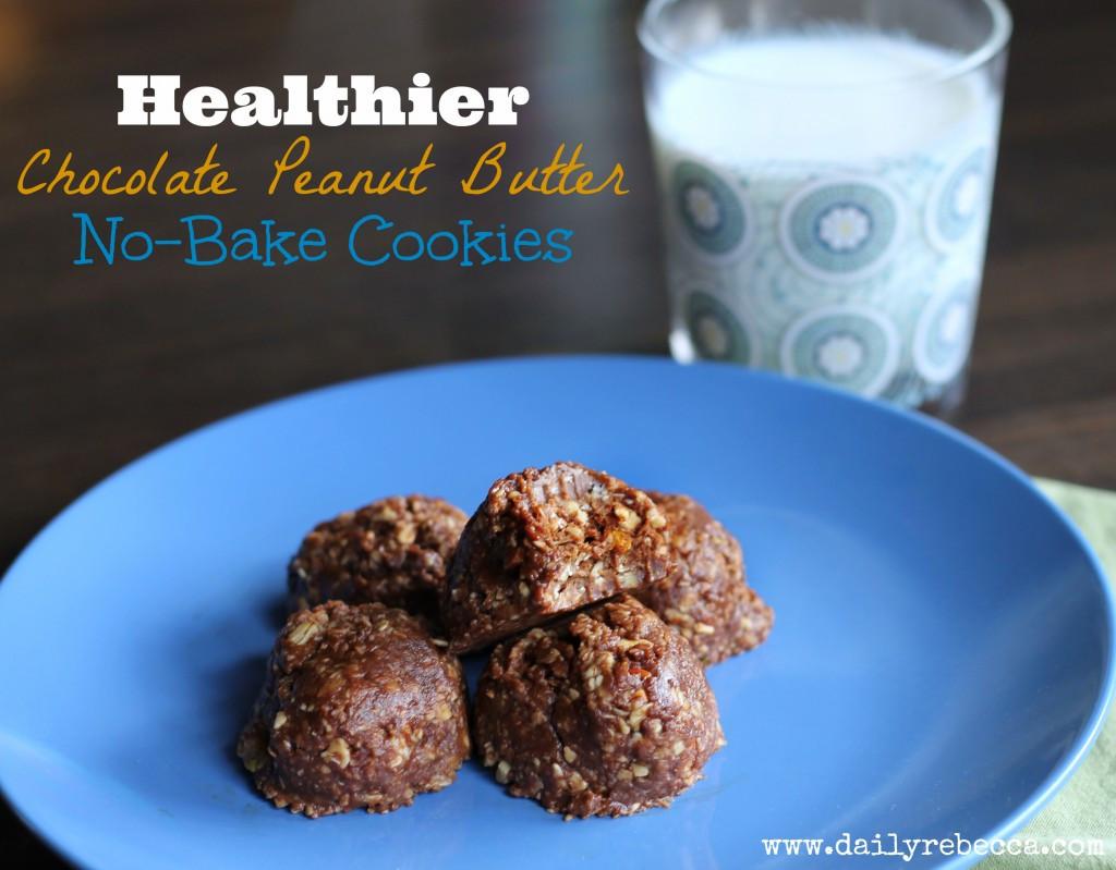 Healthy Peanut Butter No Bake Cookies  Healthier Chocolate Peanut Butter No Bake Cookies Daily