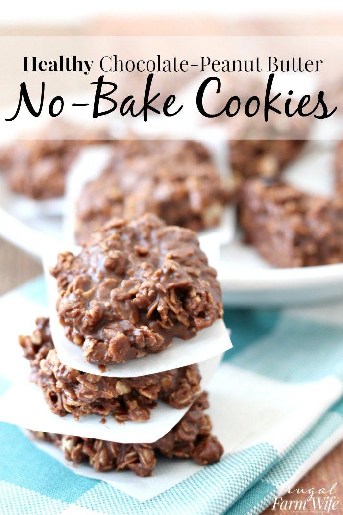 Healthy Peanut Butter No Bake Cookies  Healthy No Bake Chocolate Peanut Butter Cookies