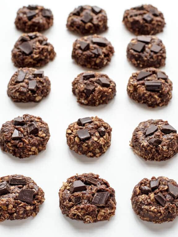 Healthy Peanut Butter No Bake Cookies  Healthy No Bake Cookies with Chocolate and Peanut Butter