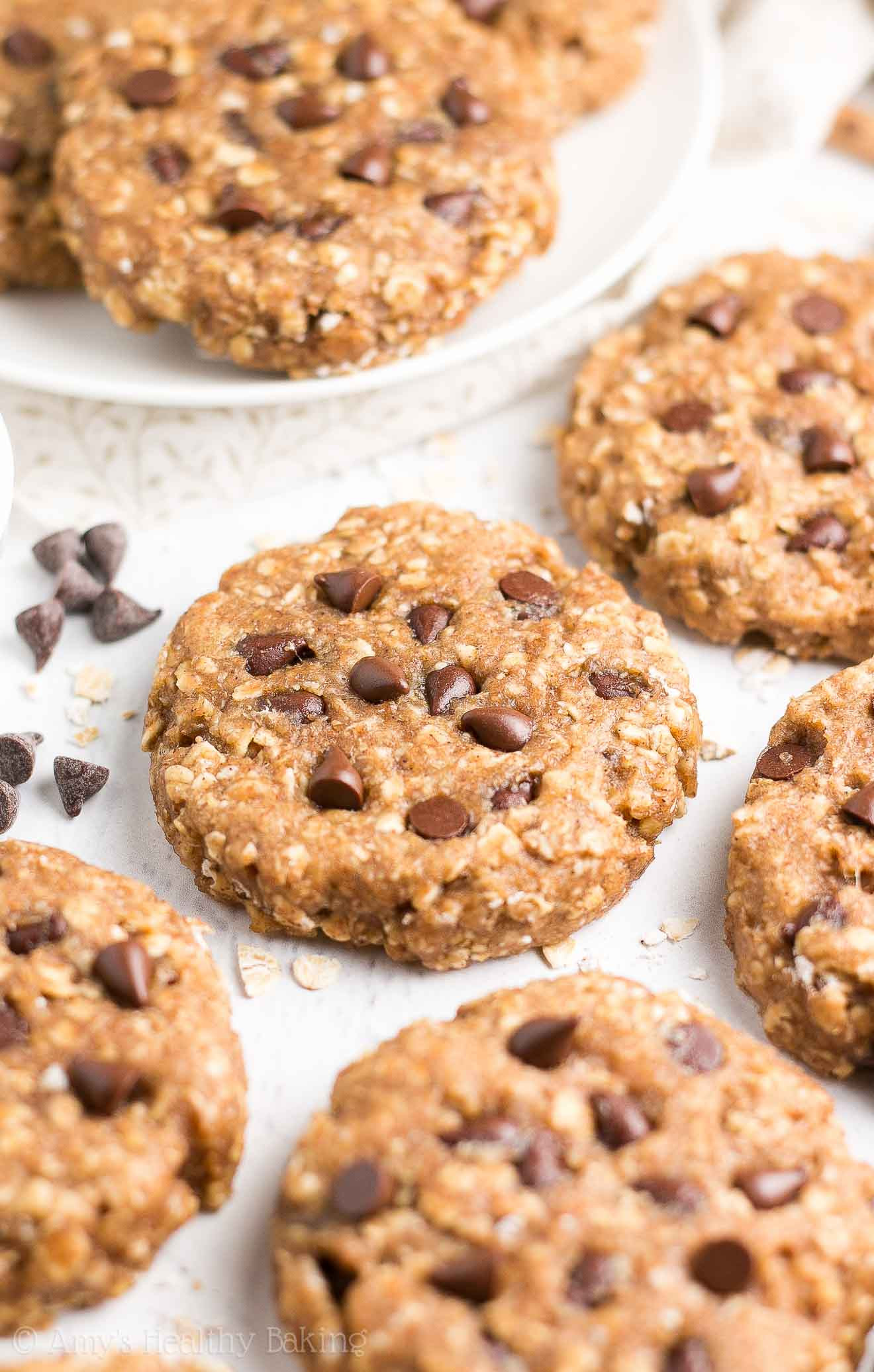 Healthy Peanut Butter Oatmeal Cookies  Healthy Chocolate Chip Peanut Butter Oatmeal Breakfast