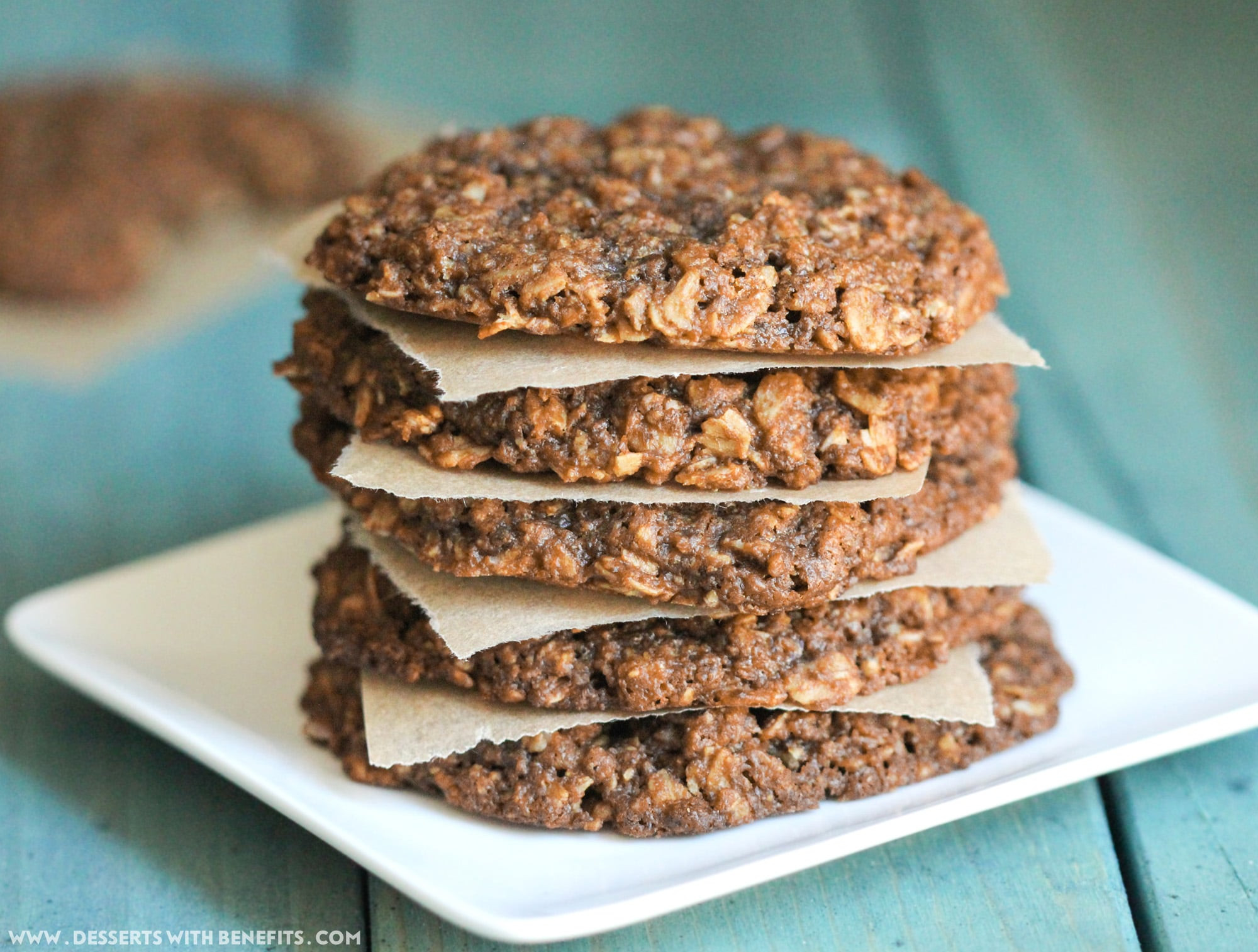 Healthy Peanut Butter Oatmeal Cookies  Healthy Chewy Peanut Butter Oatmeal Cookies recipe gluten