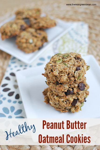 Healthy Peanut Butter Oatmeal Cookies  healthy peanut butter oatmeal cookies