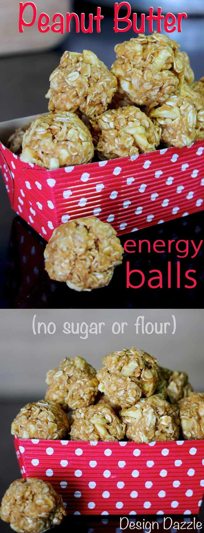 Healthy Peanut Butter Snacks  Peanut Butter Oatmeal Energy Balls Recipe