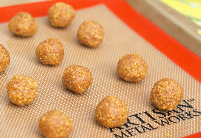 Healthy Peanut Butter Snacks  Look Again Quinoa Peanut Butter Snack Balls Happy