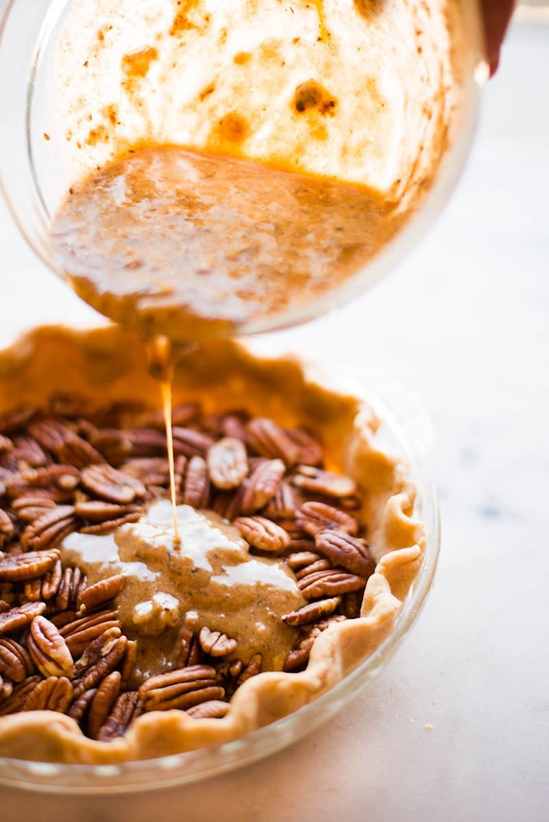 Healthy Pecan Pie Recipe  Healthy Pecan Pie Without Corn Syrup • A Sweet Pea Chef