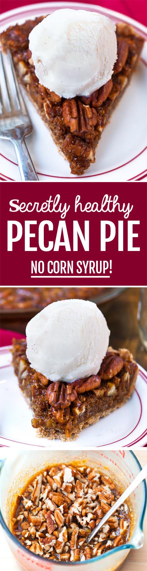 Healthy Pecan Pie Recipe  Vegan Pecan Pie NO Corn Syrup