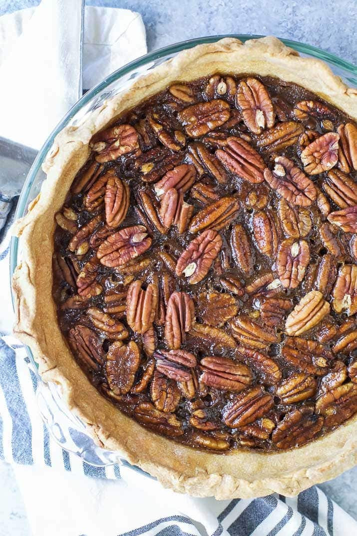 Healthy Pecan Pie Recipe Without Corn Syrup  Homemade Pecan Pie no corn syrup