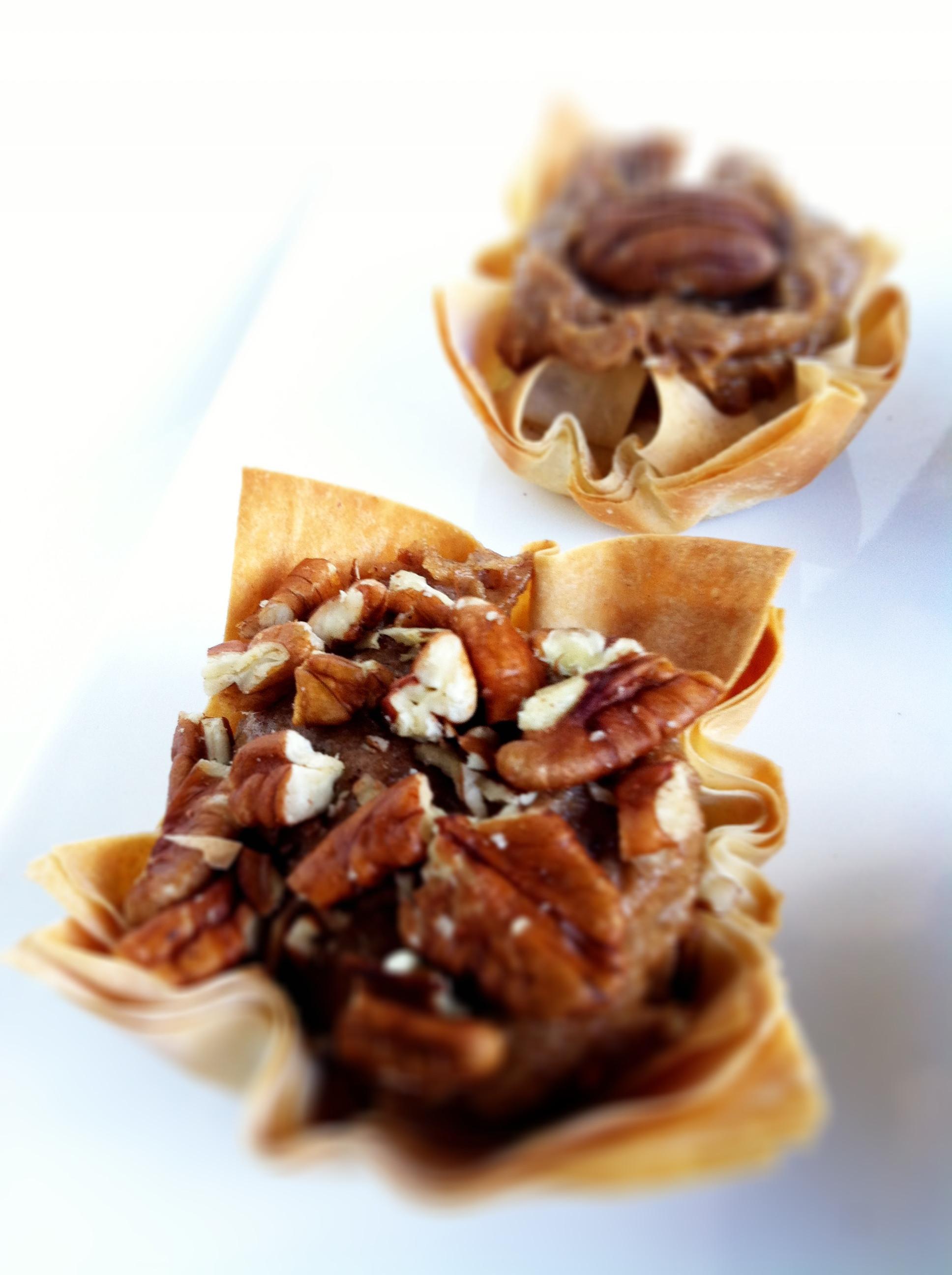 Healthy Pecan Pie  Skinny Pecan Pie Phyllo Tarts