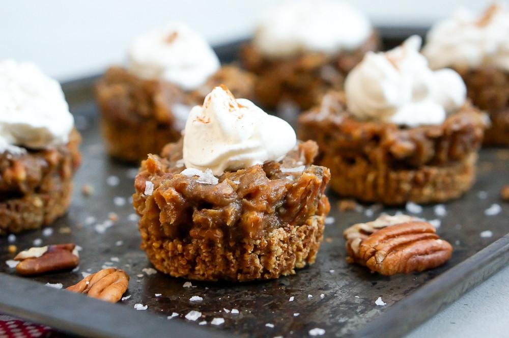 Healthy Pecan Pie  Healthy Pecan Pie Tarts with Salted Caramel