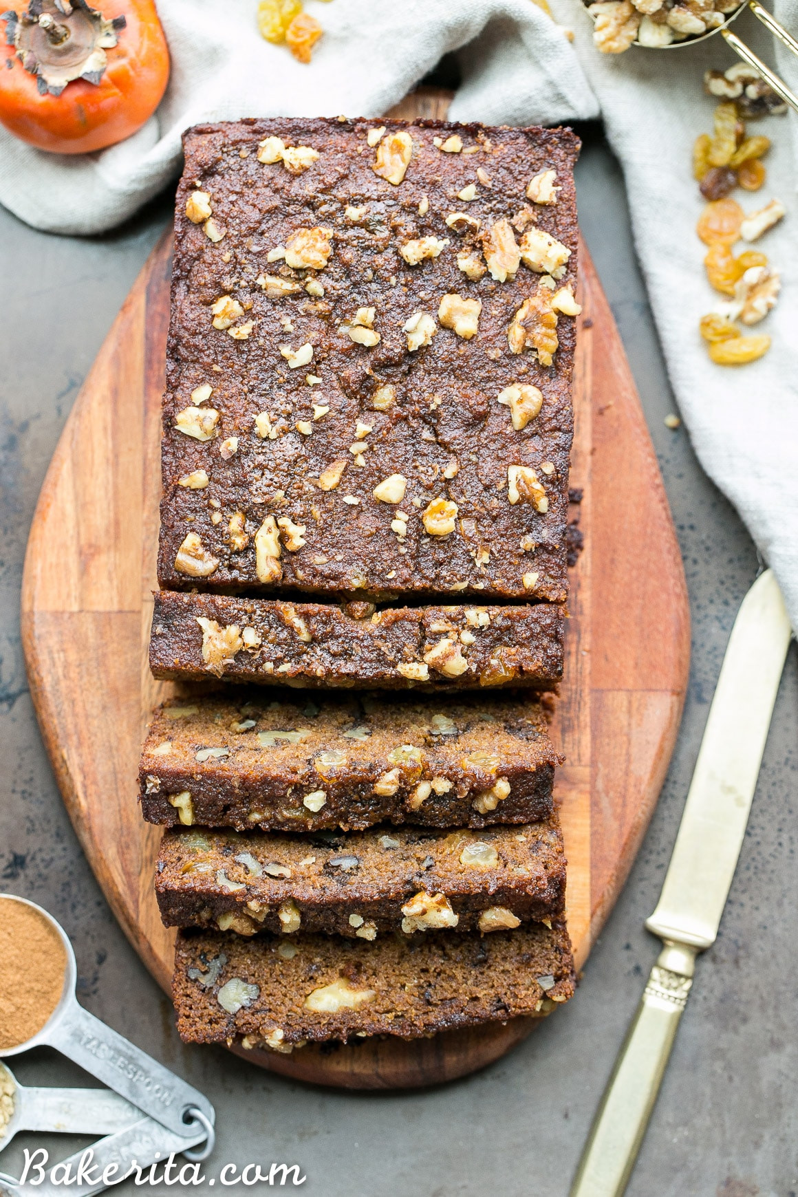 Healthy Persimmon Bread  Paleo Persimmon Bread Bakerita