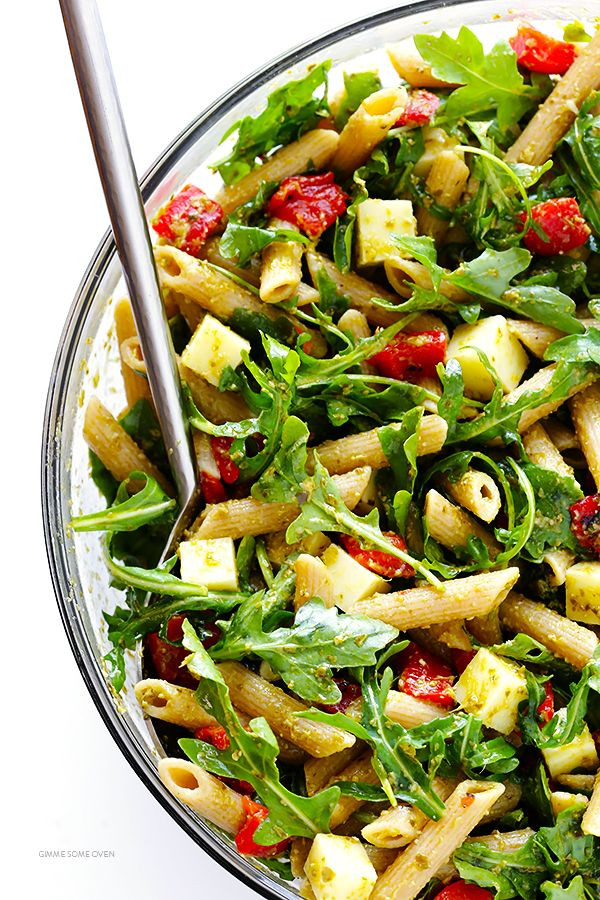 Healthy Pesto Pasta Salad Recipe  1937 best images about Potluck Recipes on Pinterest