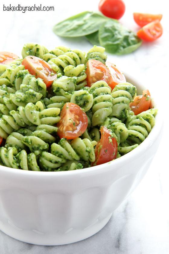 Healthy Pesto Pasta Salad Recipe  Pesto Pasta Salad Recipe — Dishmaps