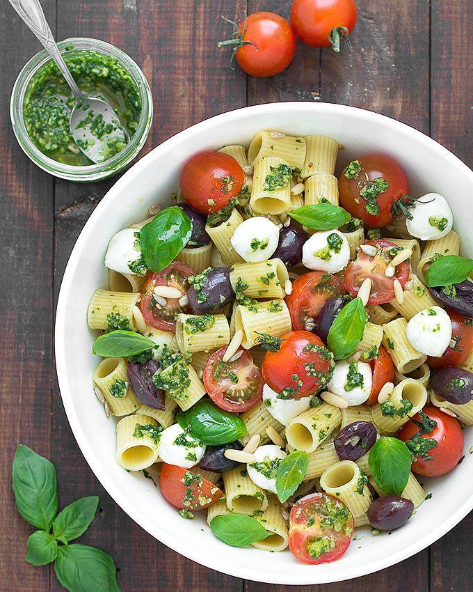 Healthy Pesto Pasta Salad Recipe  Summer Pesto Pasta Salad As Easy As Apple Pie