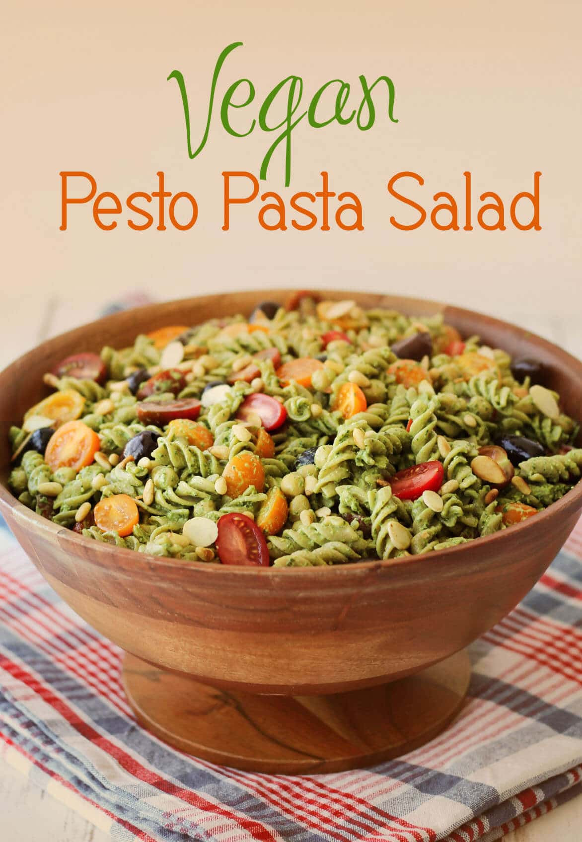 Healthy Pesto Pasta Salad Recipe  Vegan Pesto Gluten Free Pasta Salad