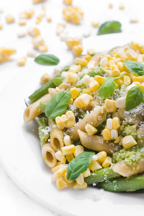 Healthy Pesto Pasta Salad Recipe  15 Healthy Corn Recipes Side Dishes & Entrees for Summertime
