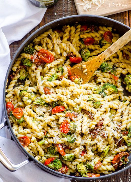 Healthy Pesto Pasta Salad Recipe  Broccoli pasta Pesto and Pasta on Pinterest