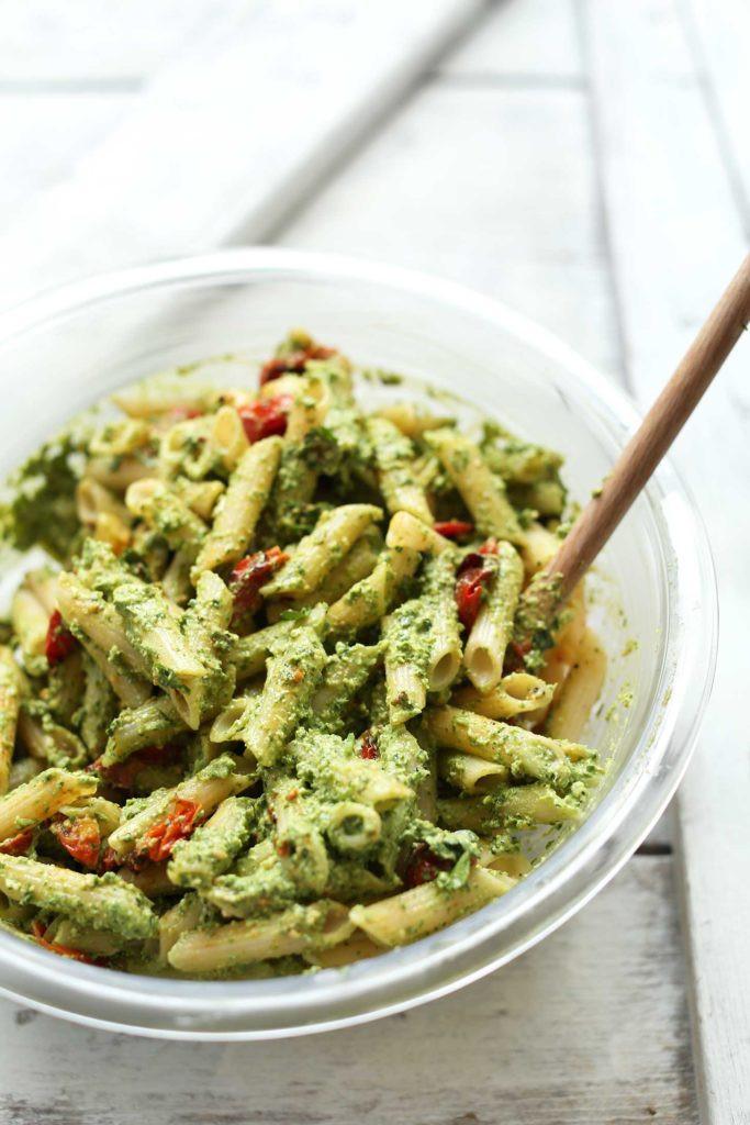Healthy Pesto Pasta Salad Recipe  Penne Pasta Salad 30 minutes