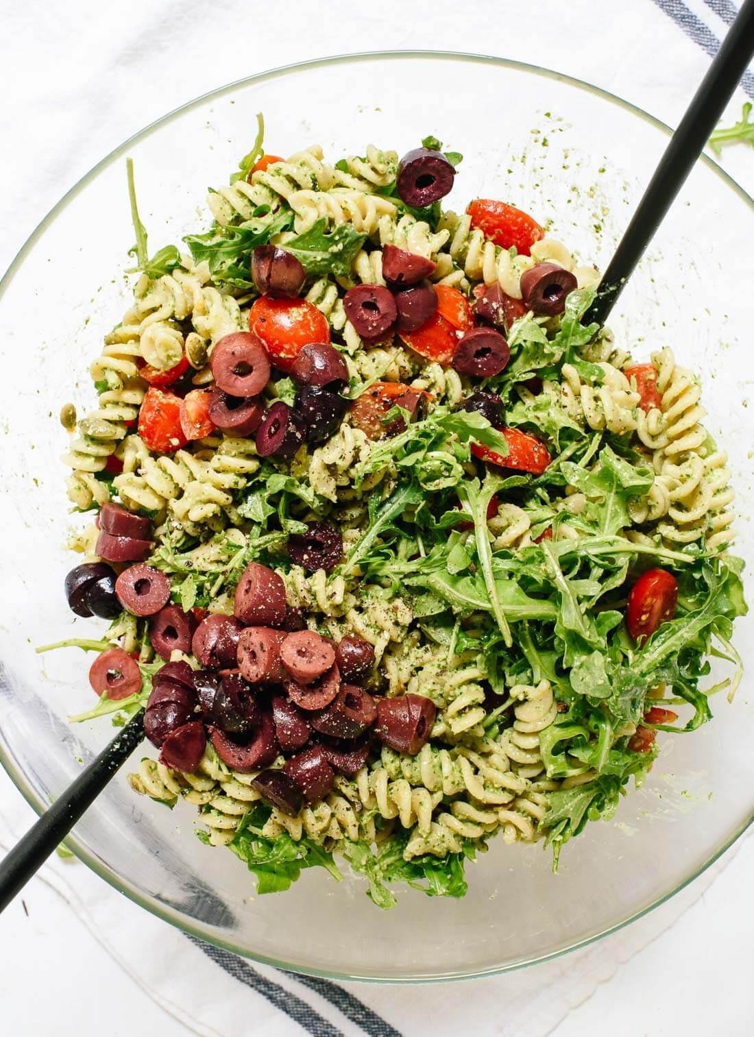 Healthy Pesto Pasta Salad Recipe  Pesto Pasta Salad Recipe Cookie and Kate
