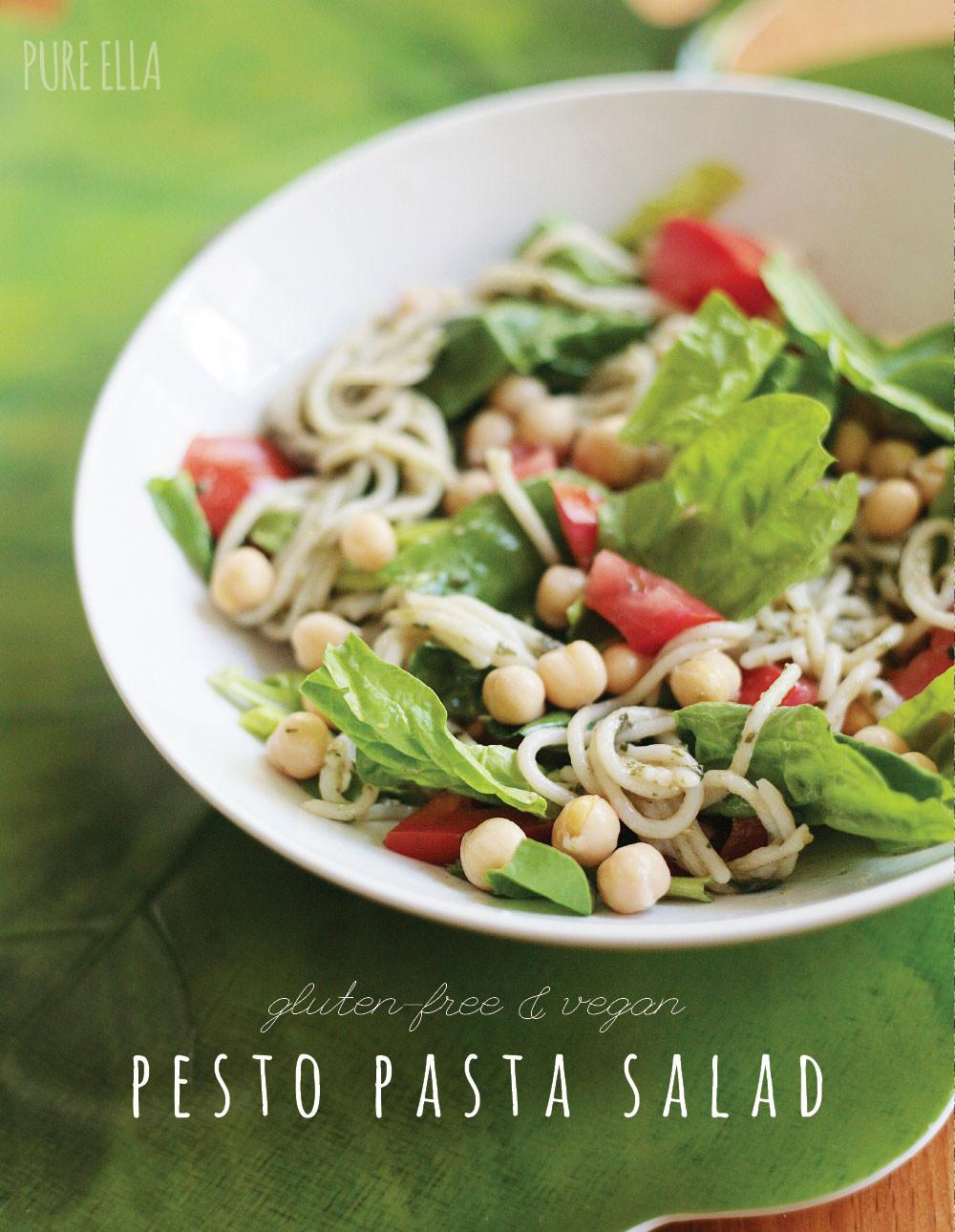 Healthy Pesto Pasta Salad Recipe  Spring Pasta Salad with Easy Pesto Pure Ella
