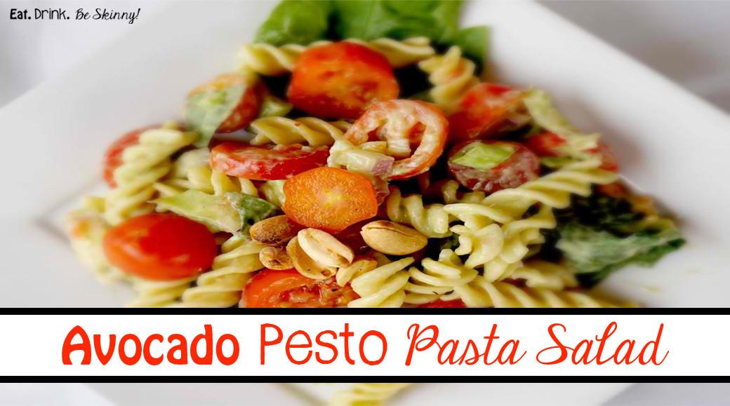 Healthy Pesto Pasta Salad Recipe  Healthy Recipe Avocado Pesto Pasta Salad