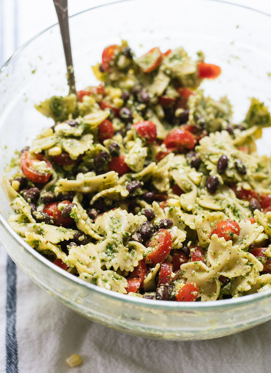 Healthy Pesto Pasta Salad Recipe  Summertime Pasta Salad Recipe Cookie and Kate