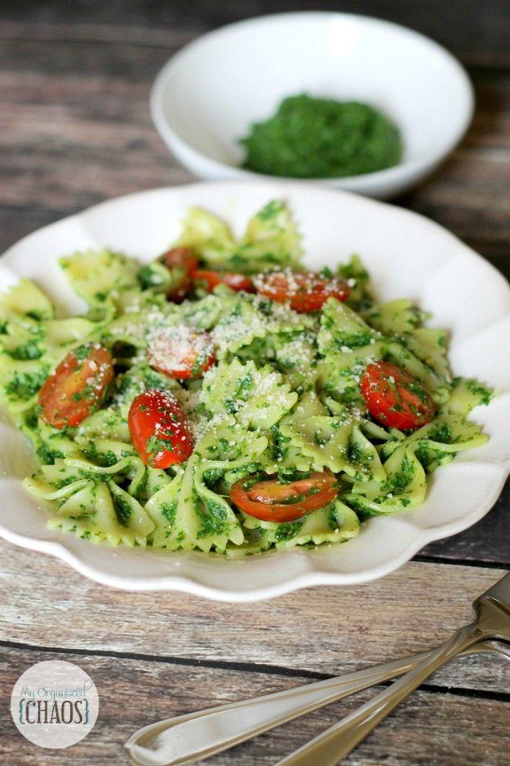 Healthy Pesto Sauce  Healthy Kale Pesto Pasta Recipe