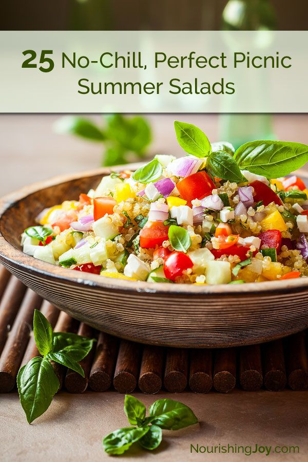 Healthy Picnic Side Dishes  25 No Chill Picnic Perfect Summer Salads