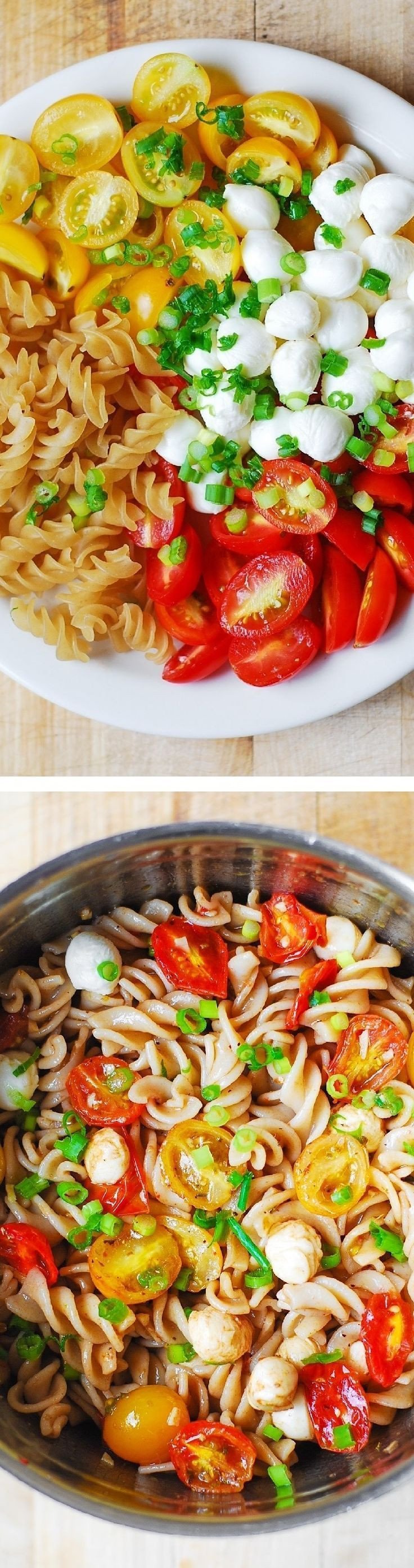 Healthy Picnic Side Dishes  Pasta Salad with Roasted Tomatoes and Mozzarella