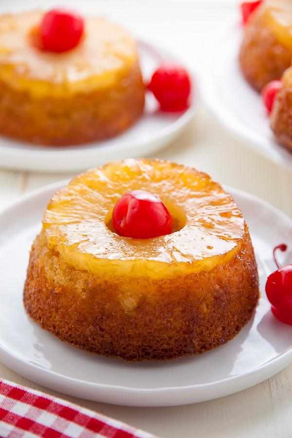 Healthy Pineapple Upside Down Cake  Mini Pineapple Upside Down Cakes Baker by Nature