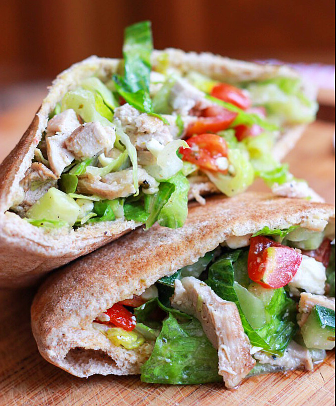 Healthy Pita Bread  Chicken Salad in Pita Pockets