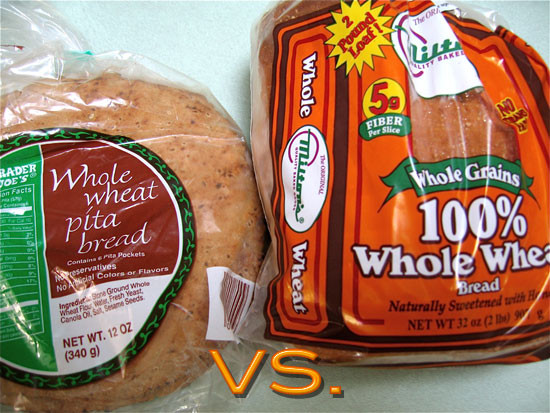 Healthy Pita Bread Brands  Which Bread Is Healthier Whole Wheat Pita or Whole Wheat