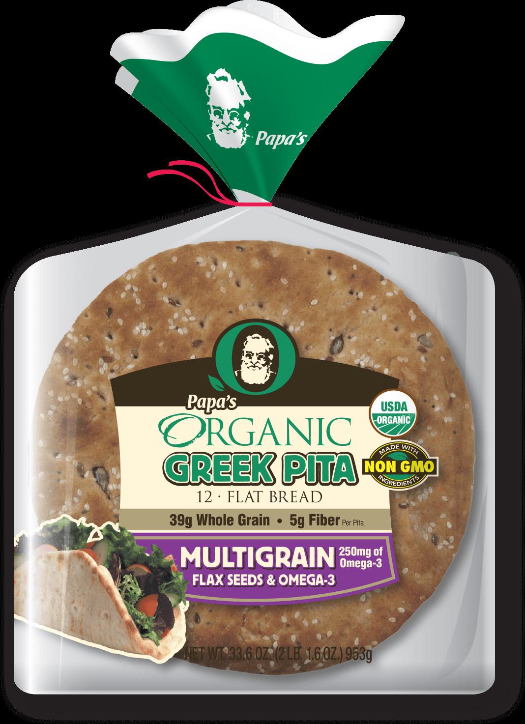 Healthy Pita Bread Brands  Papa s Organic Papa Pita