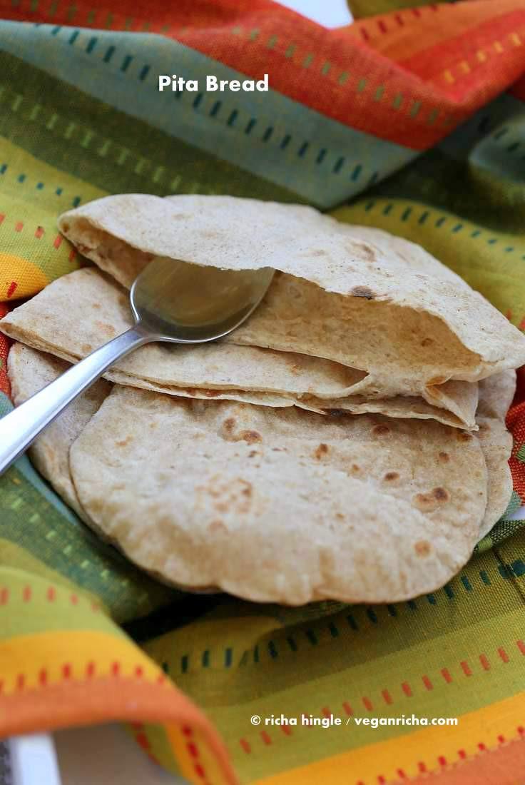 Healthy Pita Bread Recipe  Vegan Pita Bread Recipe Vegan Richa