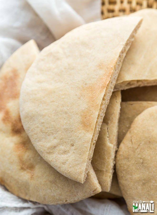 Healthy Pita Bread Recipe  Whole Wheat Pita Bread Cook With Manali