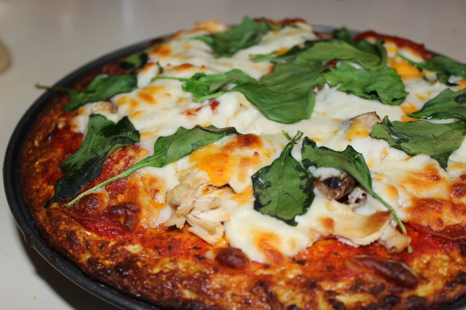 Healthy Pizza Crusts  Authentic Curry Healthy Cauliflower Pizza Crust