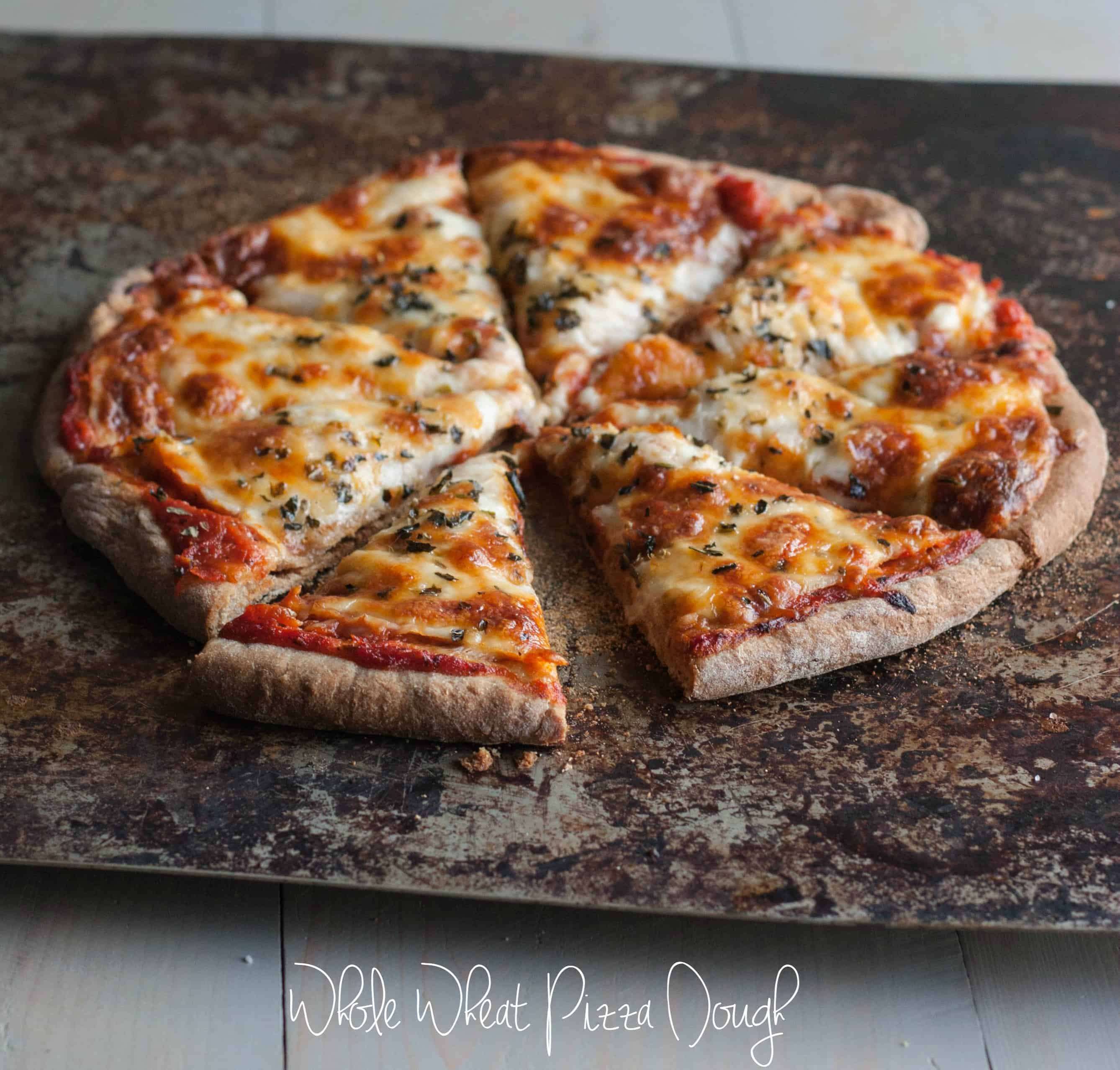 Healthy Pizza Crusts  Fail Proof Whole Wheat Pizza Dough Sweetphi