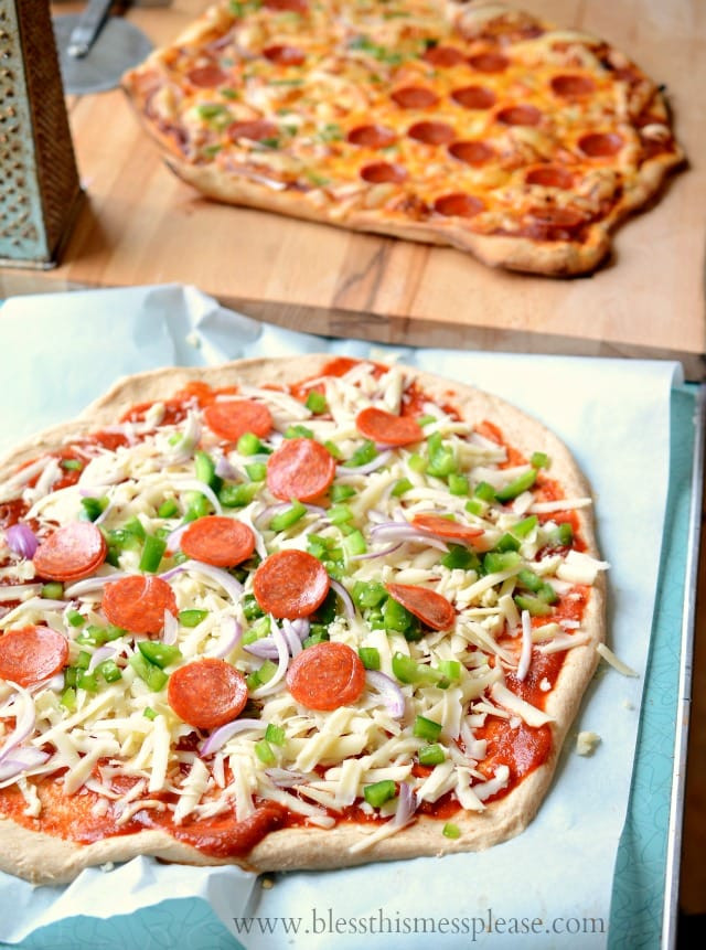 Healthy Pizza Dough Recipe  Whole Wheat Pizza Crust Bless This Mess